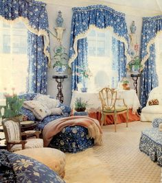 A bedroom from a past Kips Bay Showhouse by Mario Buatta