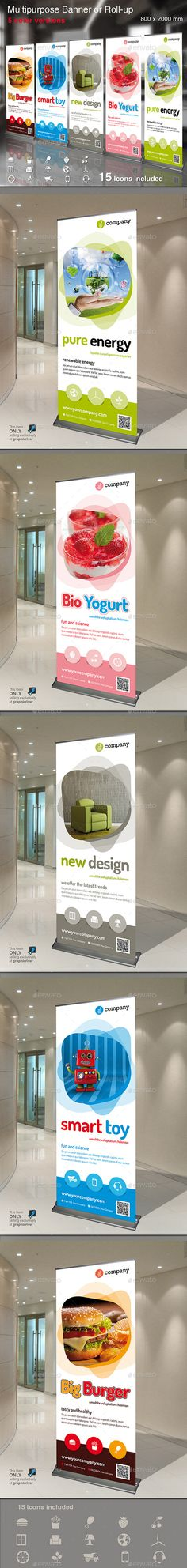 Multipurpose Banner or Rollup Template PSD #design Download: http://graphicriver.net/item/multipurpose-banner-or-rollup/13377280?ref=ksioks