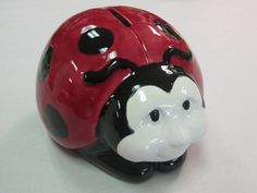 What a cute customer piece, a ladybug bank! It's perfect for all ages!
