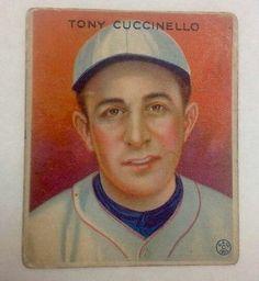 1933 Goudey Gum Tony Cuccinello MLB Baseball Brooklyn Dodgers Baseball Card