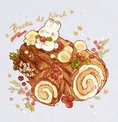 Cute Food Drawings, Kawaii Drawings, Dessert Illustration, Cute Illustration, Kawaii Doodles, Kawaii Art, Cute Food Art, Cute Art, Food Sketch