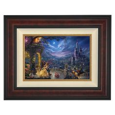In celebration of the 25th Anniversary of Beauty and the Beast, Thomas Kinkade Studios have reimagined the fairy tale in the artist's inimitable style. ''Dancing in the Moonlight'' is presented as a framed limited edition giclee on canvas.