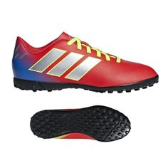 649a20b66bd10 adidas Youth Nemeziz Messi 18.4 Turf Soccer Shoes (Active Red/Silver) @  SoccerEvolution
