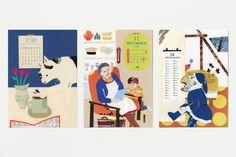 Daily Souvenir Calendar 2018, Calendar Design, Cute Illustration, Typography, Family Guy, Graphic Design, Fictional Characters, Art, Souvenir