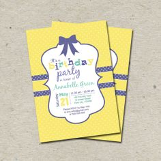 Kids Birthday Invitation Printable Digital File by tranquillina, $13.00