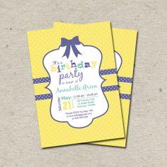Kids Birthday Invitation Printable Digital File by tranquillina, $13.00