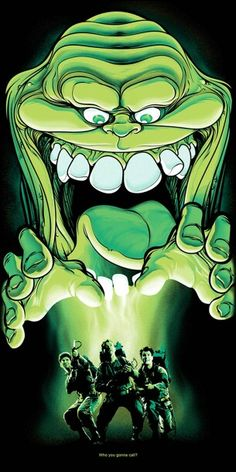 """Hi to the Bad Guy"""" Movie Art Show Collection Slimer! """"Say Hi to the Bad Guy"""" Movie Art Show Collection — GeekTyrantSlimer! """"Say Hi to the Bad Guy"""" Movie Art Show Collection — GeekTyrant Ghostbusters Party, The Real Ghostbusters, Ghostbusters Poster, Horror Art, Horror Movies, Cult Movies, Le Revenant, Horror Posters, Movie Posters"""