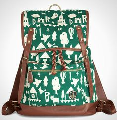 This imaginative backpack is the perfect accessory for the free spirit.