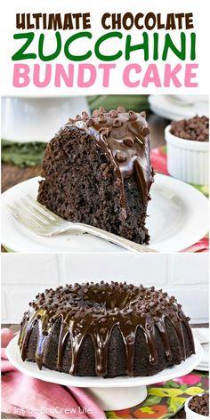 Zucchini Cupcakes, Zucchini Bundt Cake Recipe, Zucchini Desserts, Zuchinni Recipes, Zucchini Bread, Zucchini Brownies, Healthy Zucchini, Homemade Chocolate, Chocolate Recipes
