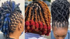 Beautiful And Gorgeous Loc Hairstyles Compilation   AAHV Mohawk Styles, Loc Styles For Men, Curly Hair Styles, Natural Hair Styles, Bubble Ponytail, Green Highlights, Afro, Pelo Natural, Mens Braids