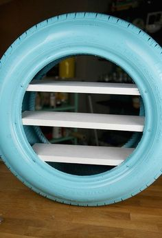 diy toy shelves from a used tire, how to, repurpo sing upcycling, shelving ideas