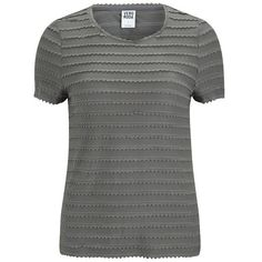 Vero Moda Women's Camil T-Shirt - Pewter ($35) ❤ liked on Polyvore featuring tops, t-shirts, grey, grey tee, striped tee, gray top, grey camisole and striped t shirt