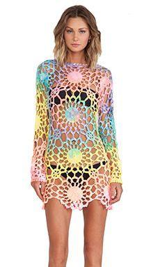 Vestido crochet colores brill