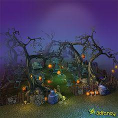 Halloween Cemetery Set