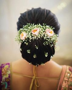 Bridal Bun Hairstyles to make your wedding day special - Fashion Bridal Hairstyle Indian Wedding, Bridal Hair Buns, Bridal Braids, Bridal Hairdo, Hairdo Wedding, Indian Wedding Hairstyles, Bride Hairstyles, Engagement Hairstyles, Saree Hairstyles