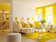 40 Amazing Yellow Living Room Color Schemes That People Never Seen Colourful Living Room, Colorful Living Room Design, Yellow Living Room, Monochromatic Room, Living Room Interior, Room Design, Yellow Living Room Colors, Living Room Paint, Yellow Room