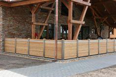 Moderní design plot, dřevěný plot