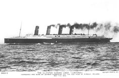 A postcard issued following the sinking of the Lusitania.