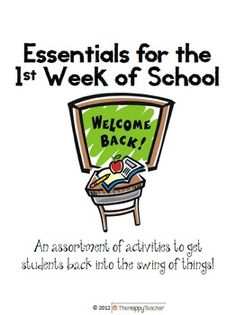 Activities and Printables for the 1st Day / 1st Week of School!