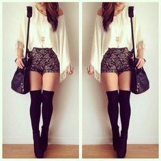 #kneesocks #shorts #booties