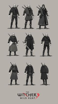 Wiedźmin 3: Dziki Gon - nowe grafiki koncepcyjne pokazują 27 typów pancerza dla Geralta - ilustracja #3 Witcher 3 Armor, Witcher Art, The Witcher Game, The Witcher Book Series, The Witcher Books, Game Concept, Armor Concept, Character Concept, Character Art