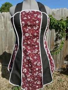 Vintage Style Apron -  Texas A Aggies- FREE Personalization. $27.00, via Etsy.