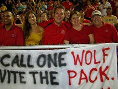 NC State tailgating for the Central Florida game.