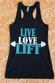 LIVE LOVE LIFT Excercise Razor Back Tank Customize the Colors you want! by StarStuddedCreate on Etsy