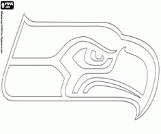 49ers drawings san francisco 49ers logo american for Seattle seahawks coloring pages