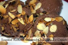 Recipe Rebels: TOASTED ALMOND COVERED CHOCOLATE ICE CREAM