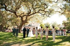 River House outdoor wedding ceremony Charleston