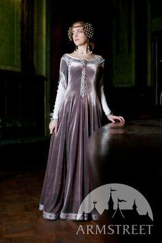 "Exclusive Velvet Embroidered Medieval Dress ""Lady Rowena"". $470.00, via Etsy."