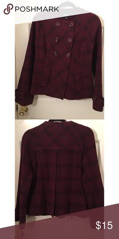Maroon Peacoat Mossimo Maroon Peacoat. Button closure. A-line fit. Worn once. Size M. Mossimo Supply Co Jackets & Coats Pea Coats