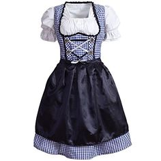 Find the best prices on Gaudi-leathers Women's Dirndl Pieces Checkered 46 Blue/White and save money. Gaudi, Lederhosen, Traditional Dresses, Outfit, Vintage Fashion, Two Piece Skirt Set, Blue And White, Summer Dresses, Blouse
