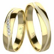 Okrus Gold snubní prsteny ze žlutého zlata