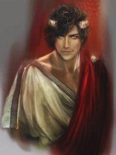 Damen from captive prince, art by boysquad