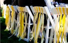 Folding Chairs with Ribbons