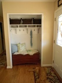 The Diligent One: Coat closet to mini-mudroom: phase I