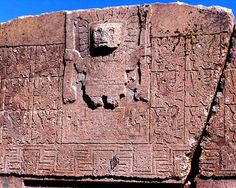 Part of Puerta del Sol, Tiahuanaco, Bolivia. Ancient Aliens, Ancient Art, Bolivia, Atlantis, Sunshine Of Your Love, Mystery, Archaeological Site, Stone Work, Sacred Art