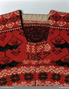 Textiles, Knitting Designs, Knitting Ideas, Folklore, Hand Knitting, Bohemian Rug, Scandinavian, Knit Crochet, Embroidery