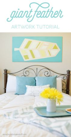 Wood, Frog Tape, and paint -- this is such an easy tutorial to make art with a big impact!