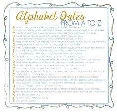 Alphabet dating ideas unlimited