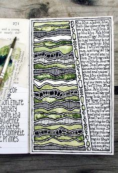the mind of a doodler is so special. Rebecca Blair art - Moleskine, - art journal page with song lyrics Kunstjournal Inspiration, Sketchbook Inspiration, Art Sketchbook, Creative Inspiration, Fashion Sketchbook, Art Journal Pages, Art Journals, Moleskine, Creative Journal
