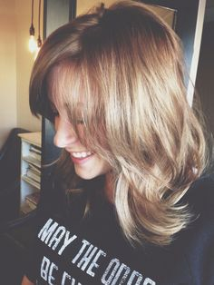 Beautiful Bronde! Mid-length with layers  #tousled