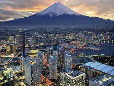 Yokohama y el Monte Fuji, Japon Places To Travel, Places To See, Travel Destinations, Holiday Destinations, Monte Fuji Japon, Places Around The World, Around The Worlds, Beautiful World, Beautiful Places