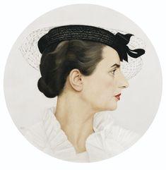 DELFINA DE PROFIL by Bernard Boutet de Monvel (French 1881-1949) ; PROFILE PORTRAIT OF DELFINA, THE ARTIST'S WIFE ; OIL ON CANVAS