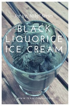 Homemade Liquorice, Liquorice Recipes, Homemade Ice Cream, Licorice Ice Cream, Black Licorice, Easy Summer Desserts, Healthy Summer Recipes, Black Food Coloring, Raspberry Tea