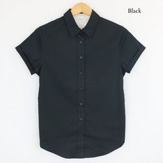 Androgynous_Fox_Short_Sleeve_Button_Up_Black_Front.jpg