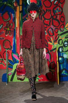 Daniela Gregis at Milan Fashion Week Fall 2018 - Runway Photos High Fashion, Winter Fashion, Fashion Show, Fashion Outfits, Womens Fashion, Milan Fashion, Cooler Look, Milano Fashion Week, Gingham Check