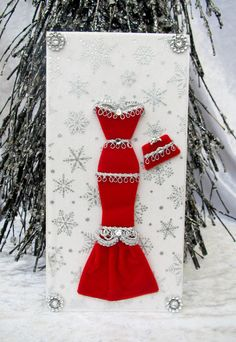 Holly Personalised Dress Card / DL Size / Handmade by BSylvar, $20.00 {love <3 this lady's cards!}